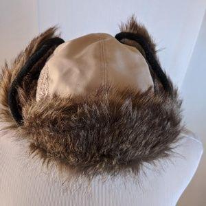 Broner Brown Faux Fur Trooper Hat - NWOT
